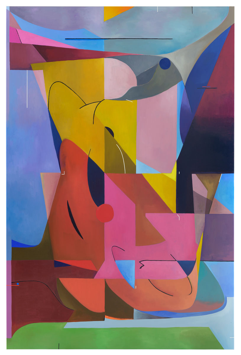 Great Impact on Vertical Levels, 2020<br>oil on canvas<br>240x160cm