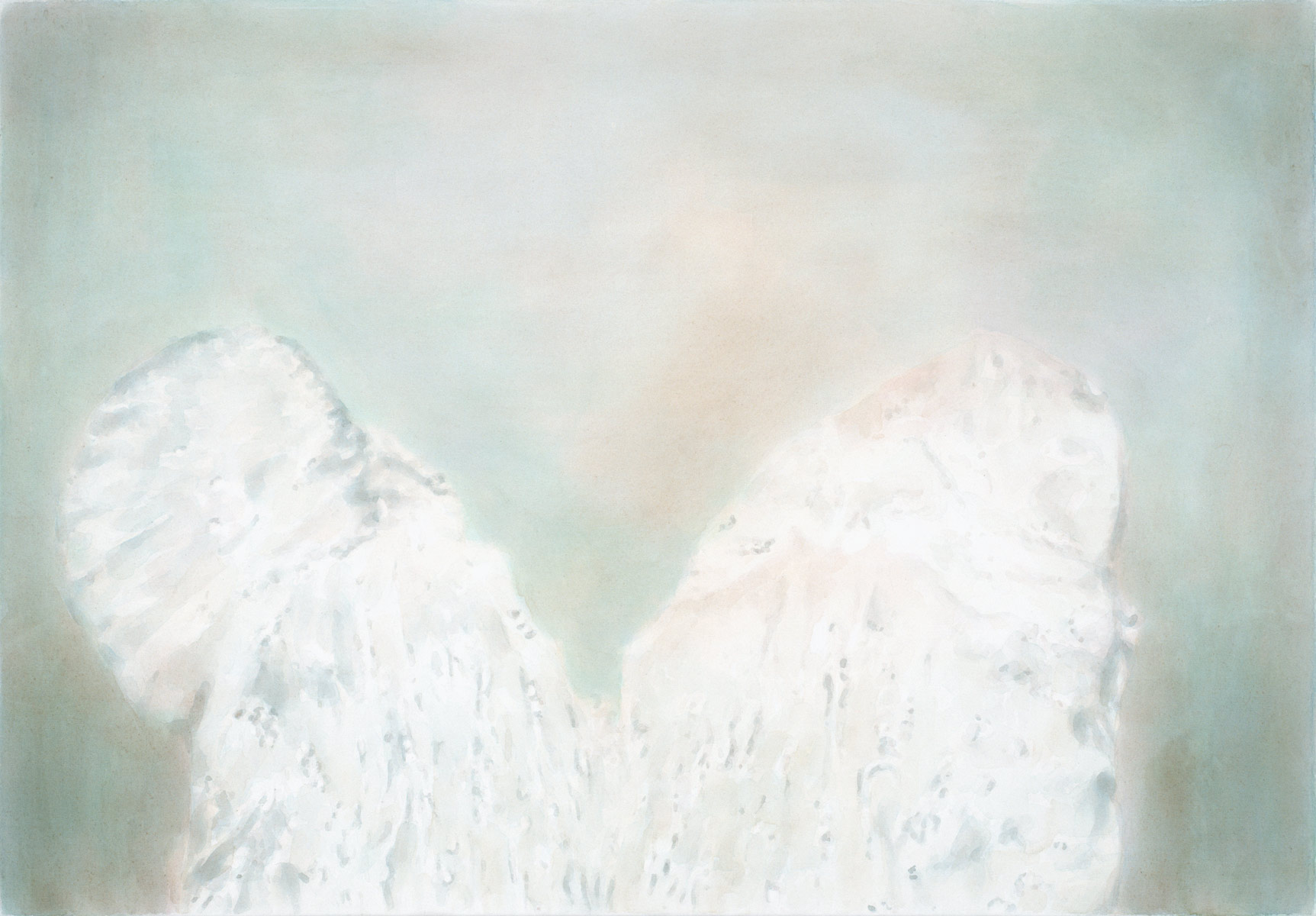 Wings, 2006<br>90x130cm<br>Aquacrylic on canvas