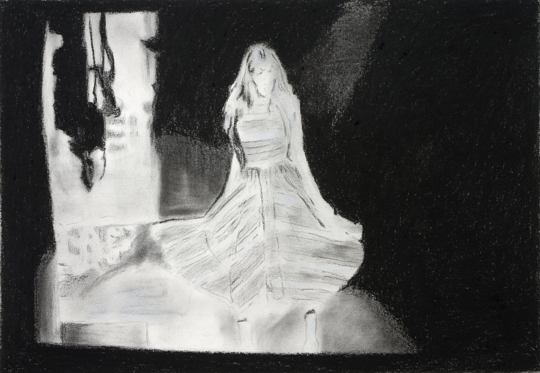 untitled, 2008<br>30x40cm<br>Charcoal