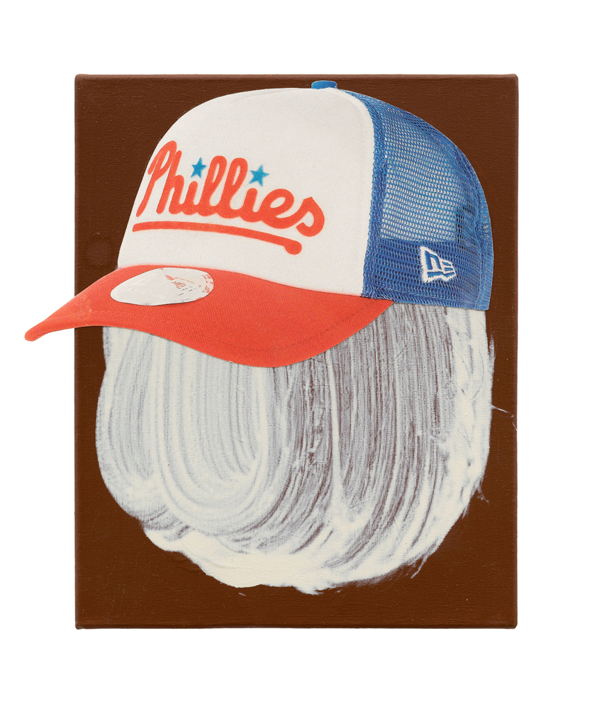 Dave Phillies, 2015<br>30x24cm<br>acrylic, oil and paper on canvas