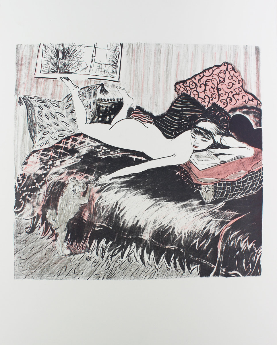 Lazy Day, 014<br>lithographic print<br>41,5x44 cm (70x50 cm)