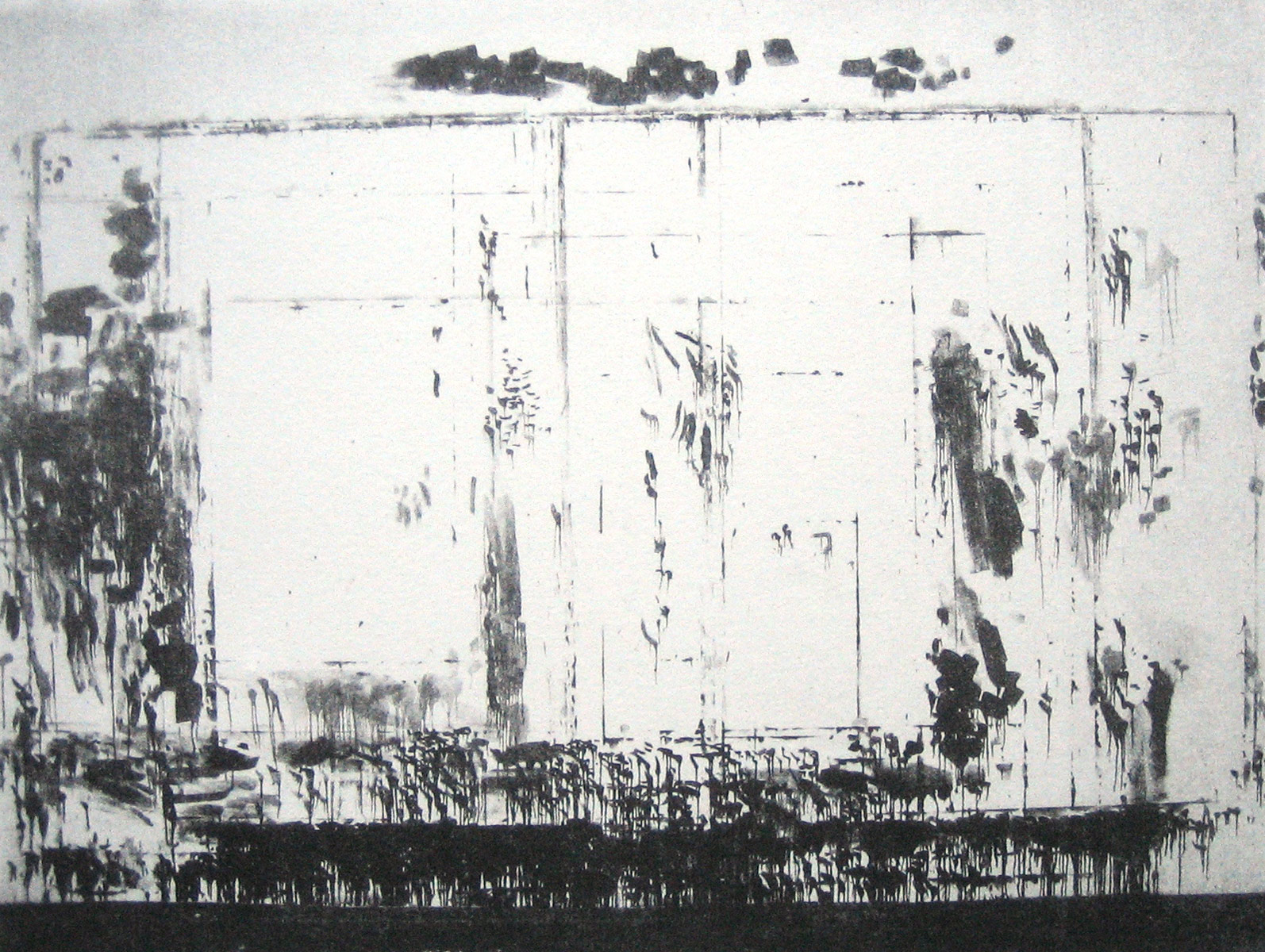 Wall of the Atelier, 2010<br> polymer gravure<br>19,5x26 cm