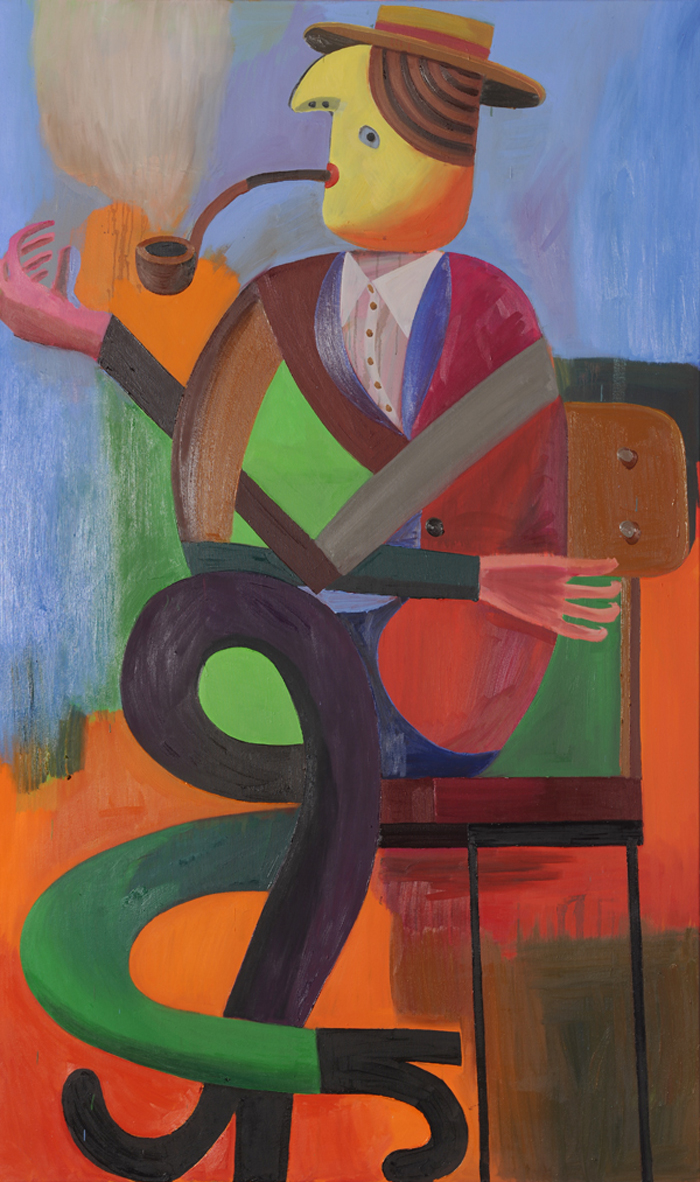 untitled (pipe), 2010<br>200x120cm<br>oil on canvas