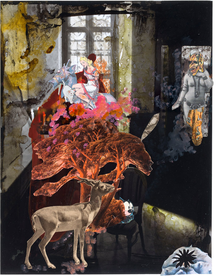 Schloss Beesenstedt #22, 2014<br>Collage<br>32x25cm