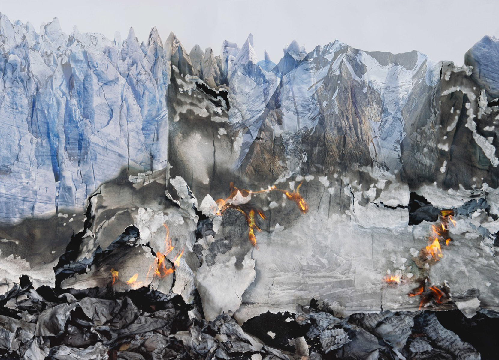 Fire and Ice, 2014<br>c-print/diasec<br>180x250cm