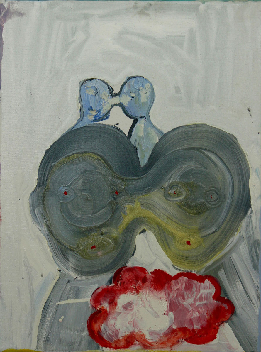 Alienloveforeverness, 2018<br>oil on canvas<br>40x30cm